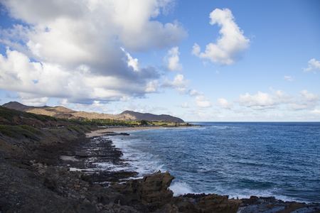 Natural landscape of the island of Hawaii