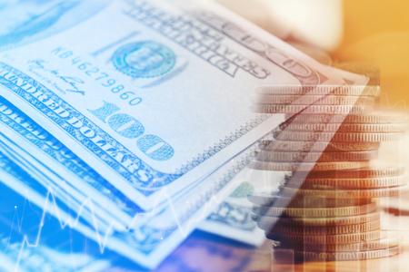 Dollars Closeup Concept. One Hundred Dollar  Cash Money finance concept