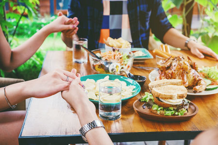 Group of people Celebrating Thanksgiving Holiday Tradition Holiday