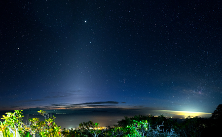 Nightscape at Doi Luang Chiang Dao Province Chiang Mai Thailand landscape Stock Photo