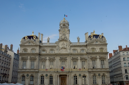 squire: City hall   Hotel de Ville, circa 1651  on the Terreaux squire in the historic center of Lyon site , France