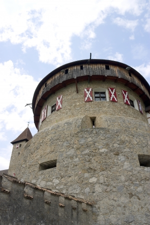 donjon: Donjon of Vaduz castle  circa XII century , the palace and official residence of the Prince of Liechtenstein Editorial