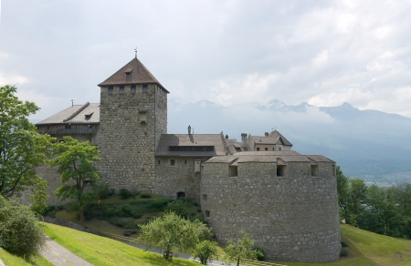 Vaduz castle  founded XII century , the palace and official residence of the Prince of Liechtenstein
