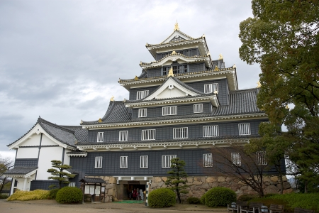 Main keep of Okayama castle in Okayama prefecture, Japan  National Historic Site  Stock Photo - 15157083