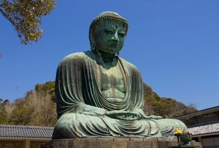 Great Buddha statue  Daibutsu  of  Kotoku-in temple in Kamakura  National treasure of Japan Stock Photo - 15178737