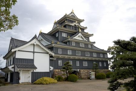 okayama: Main keep of Okayama castle in Okayama prefecture, Japan  National Historic Site