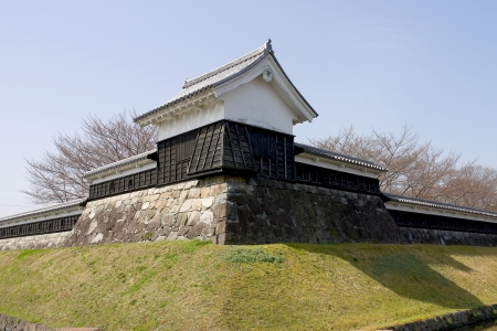 Corner tower of  Shoryuji Castle, Nagaokakyo town, Japan  Stock Photo - 15157085
