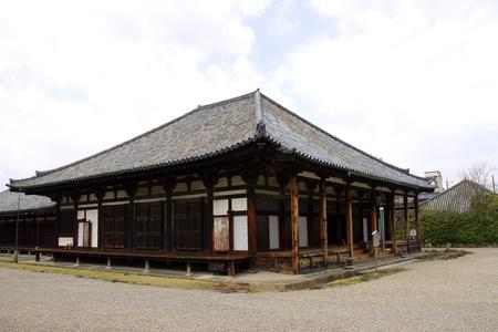hondo: Main hall Gokurakubo hondo of Gangoji temple in Nara  National treasure of Japan