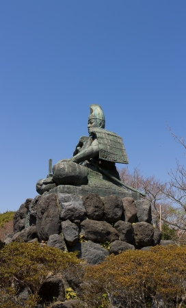 Statue of Minamoto Yoritomo in the mountains of Kamakura town, Japan  Stock Photo - 15157077