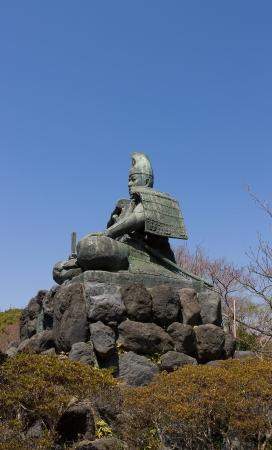 Statue of Minamoto Yoritomo in the mountains of Kamakura town, Japan  Stock Photo - 15157077