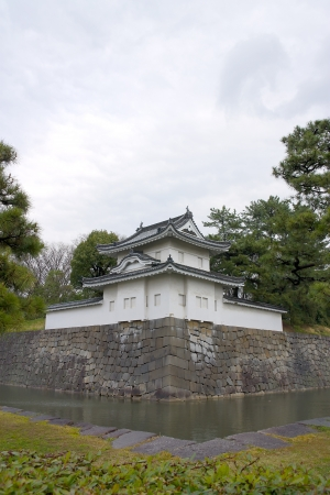 South-East  Sumi-yagura tower of Nijo castle, Kyoto, Japan  Important cultural property  Stock Photo - 15157078