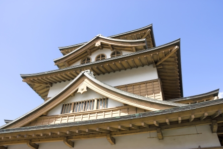 Takashima castle main keep  fragment   Suwa town, Nagano prefecture, Japan  Stock Photo - 15246461