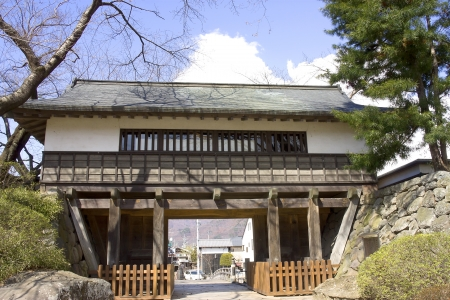 Takashima castle main gate  Suwa town, Nagano prefecture, Japan  Stock Photo - 15246504