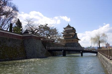 siege: Takashima castle main keep and walls  Suwa town, Nagano prefecture, Japan  Editorial