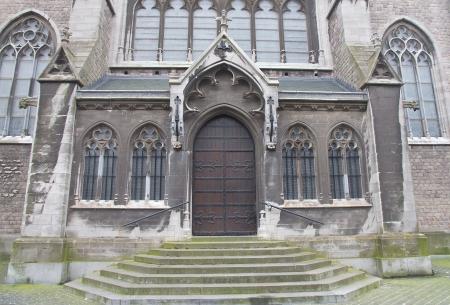 Side entrance of the Church of Saint Peter and Saint Paul (Sint-Petrus-en-Pauluskerk, circa 1905). Ostend, Belgium  Stock Photo - 17118665