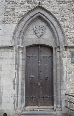 Entrance of the Castle of Gerald the Devil  circa XIII century   Ghent, East Flanders, Belgium photo