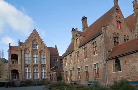 flemish: Old St  John s Hospital  Sint-Janshospitaal, founded in XI c    Historic center of Bruges  UNESCO World Heritage Site , West Flanders, Belgium