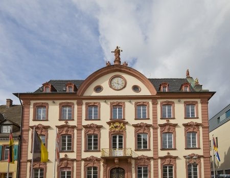 Old city hall (circa 1741) in Offenburg town, Baden-Wurttemberg, Germany