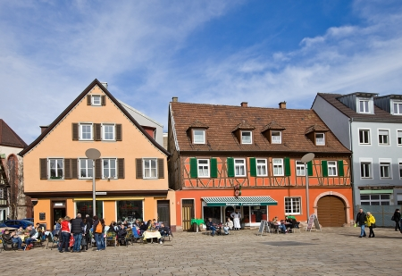 squire: View of Markplatz squire in Offenburg town, Baden-Wurttemberg, Germany