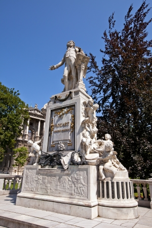 amadeus mozart: Monument for famous composer Wolfgang Amadeus Mozart  Burggarten, Vienna, Austria