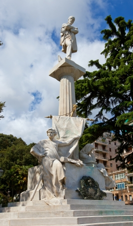 nicknamed: Monument  1882  to Giuseppe Mazzini  nicknamed The Beating Heart of Italy , an Italian politician, journalist and activist for the unification of Italy  Genoa, Italy
