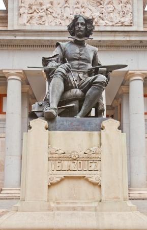 velazquez: Monument to Spanish painter Diego Rodriguez de Silva Velazquez in front of Prado Museum  Madrid, Spain  Made by sculptor  Aniceto Marinas in 1899