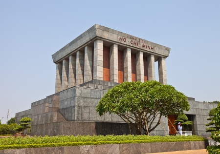 ba: Ho Chi Minh Mausoleum  1975  in Hanoi, Vietnam  Memorial is located in the centre of Ba Dinh Square, which is the place where Vietminh leader Ho Chi Minh read the Declaration of Independence on September 2, 1945, establishing the Democratic Republic of Vi