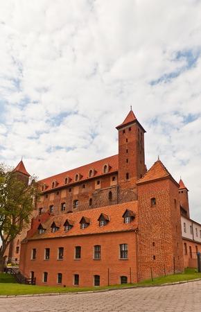 teutonic: Castello Mewe circa XIV secolo, il Ordensburg fortezza medievale della citt� Teutonico Gniew, Pomerania, Polonia Editoriali