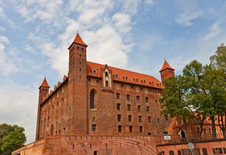 teutonic: Mewe castello intorno al XIV secolo, il Ordensburg fortezza medievale della citt� Teutonico Gniew, Pomerania, Polonia