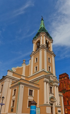 torun: Holy Spirit church  academic church, circa 1756  of Torun town, Poland