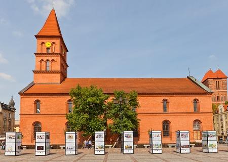 torun: Evangelical church of Holy Trinity  circa 1824  in Torun  former Thorn  town, Poland