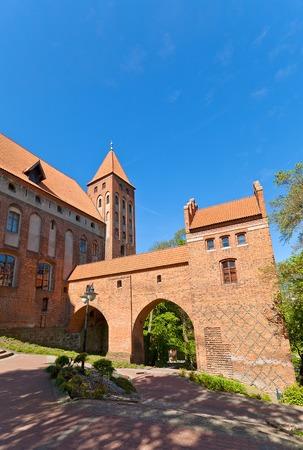 teutonic: Castello Marienwerder circa XIV sec, il Ordensburg fortezza medievale della citt� Teutonico Kwidzyn, Voivodato della Pomerania, Polonia Castello fu sede dei Vescovi di Pomesania