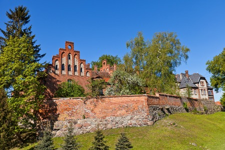 teutonic: Castello Sztum circa 1335, il Ordensburg fortezza medievale della citt� Teutonico Sztum, Voivodato della Pomerania, Polonia Castello era una residenza estiva dei Grandi Maestri dei Cavalieri Teutonici