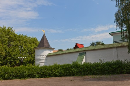 boris: Corner tower  circa 1689  of fortification walls of Saints Boris and Gleb monastery in Dmitrov, Russia