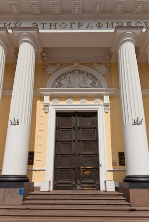 ethnography: Portal of Russian Museum of Ethnography  circa 1912  in Saint Petersburg  Architect Vasily Svinyin