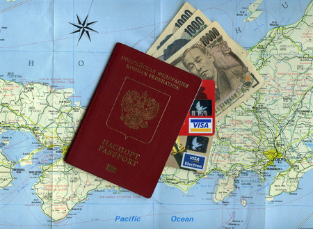 Concept Traveling From Russia To Hokkaido Island Japan Russian - Japan visa map