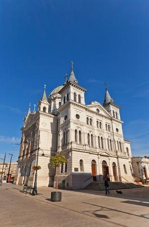 pentecost: LODZ, POLAND - OCTOBER 19, 2014: Catholic Basilica of Pentecost (erected in 1828, current view since 1892 ) in Lodz, Poland. Architect Otto Gehlig