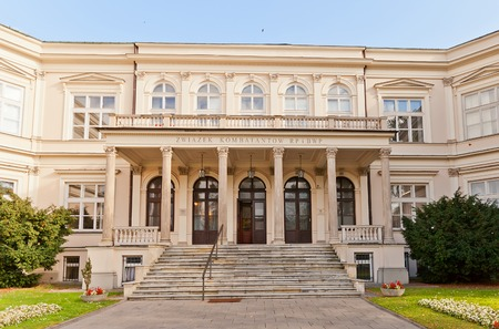aleksander: WARSAW, POLAND - OCTOBER 20, 2014:  Former residence of pianist Aleksander Rembielinski  in Warsaw, Poland. Designed by Franciszek Lanci, 1865. Now occupied by Polish War Veterans Society