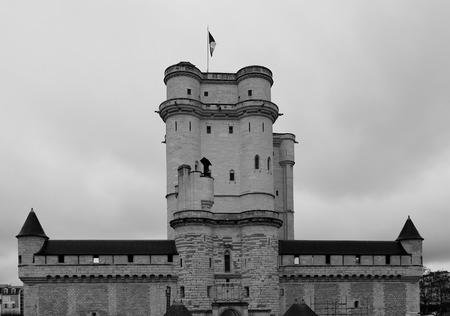 donjon: Donjon of Vincennes Castle (Chateau de Vincennes, circa XIV c.) in Paris, France. The only survived medieval castle in Paris