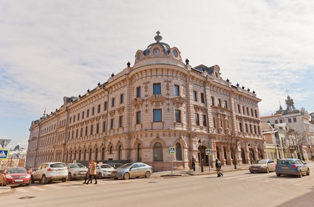 tatarstan: KAZAN, RUSSIA - APRIL 18, 2015: Aleksandrov Passage (circa 1883) of Kazan city, Republic of Tatarstan, Russia. Architect Henry Rush Editorial