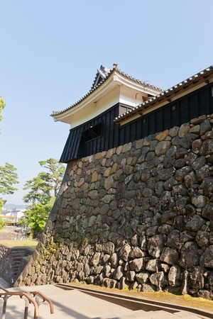 besiege: MATSUE JAPAN  MAY 19 2015: Taiko Yagura turret of Matsue castle circa 1611 in Matsue Shimane prefecture Japan. One of 12 remaining medieval castles in Japan National Historic Site