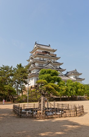 national historic site: Main keep donjon of Fukuyama Castle in Fukuyama Japan. National Historic Site erected in 1622 reconstructed in 1966