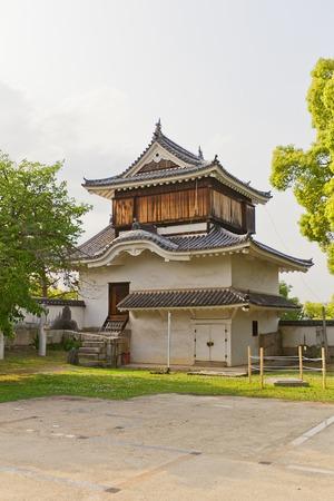 turret: Original Tsukimi Yagura turret circa 1597 of Okayama Castle in Okayama Japan. Important Cultural Property