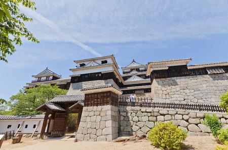 MATSUYAMA, JAPAN - MAY 21, 2015: Iyo Matsuyama castle (erected in 1603, reconstructed in 1854 and 1968), Shikoku Island, Japan. National Historic Site