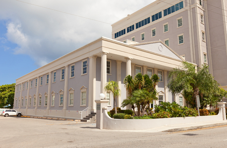 bank of america: GEORGE TOWN, CAYMAN ISLANDS - SEPTEMBER 19, 2015: Artemis House (1981) in George Town of Grand Cayman (British Overseas Territory). Constructed for Bank of America, currently hosts Appleby Law Firm Editorial