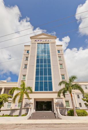 legal services: GEORGE TOWN, CAYMAN ISLANDS - SEPTEMBER 19, 2015: Office of Appleby Firm in George Town of Grand Cayman. Appleby is one of the largest providers of offshore legal, fiduciary and admin services Editorial