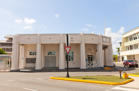 cayman: GEORGE TOWN, CAYMAN ISLANDS - SEPTEMBER 19, 2015: Post Office (circa 1939) in George Town of Grand Cayman (British Overseas Territory). Architect Captain Rayal Bodden