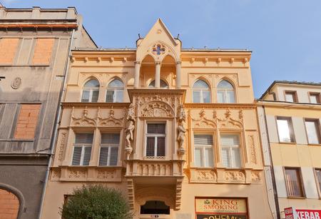 unesco in czech republic: KUTNA HORA, CZECH REPUBLIC - NOVEMBER 04, 2015: Old house in the historic center of Kutna Hora town (UNESCO site), Czech Republic. Jiri Orten, a Czech poet, lived here in 1919-1941 Editorial