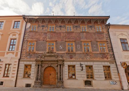 revolt: KUTNA HORA, CZECH REPUBLIC - NOVEMBER 04, 2015: Renaissance house U Mramoru in Kutna Hora town (UNESCO site), Czech Republic. Jan Sultys, a member of Bohemian Revolt (1618-1620), lived here Editorial