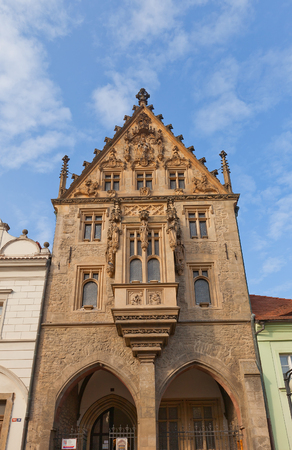 unesco in czech republic: KUTNA HORA, CZECH REPUBLIC - NOVEMBER 04, 2015: Stone House (circa XV c.) in Kutna Hora town (UNESCO site), Czech Republic. Hosts Czech Museum of Silver